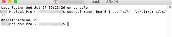 mac地址修改1